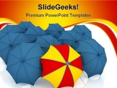 Unique Umbrella Metaphor PowerPoint Themes And PowerPoint Slides 0411