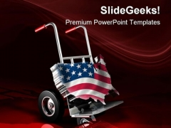 United States Delivery Americana PowerPoint Themes And PowerPoint Slides 0511