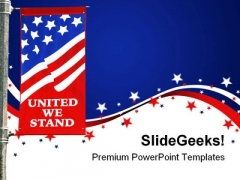 United We Stand Americana PowerPoint Template 1110