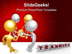Unity Teamwork Business PowerPoint Templates And PowerPoint Backgrounds 0811