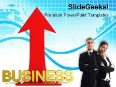 Up Arrow Business PowerPoint Templates And PowerPoint Backgrounds 1011