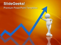 Up Arrow Business PowerPoint Themes And PowerPoint Slides 0411