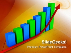 Up Arrow Graph Business PowerPoint Themes And PowerPoint Slides 0511
