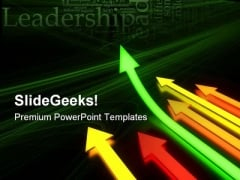 Up Arrows Leadership PowerPoint Themes And PowerPoint Slides 0711