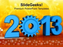 Upcoming Of 2013 New Year Concept PowerPoint Templates Ppt Backgrounds For Slides 1212