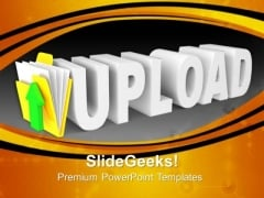 Upload Icon Computer PowerPoint Templates And PowerPoint Themes 0912