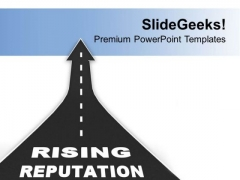 Upward Arrow With Rising Reputation PowerPoint Templates Ppt Backgrounds For Slides 0713