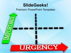 Urgency And Important Matrix Plan PowerPoint Templates Ppt Backgrounds For Slides 0513