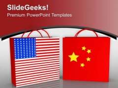 Us China Collabration Business PowerPoint Templates Ppt Backgrounds For Slides 0413
