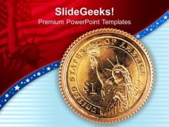 Us Dollar Coin Americana PowerPoint Templates And PowerPoint Themes 1112