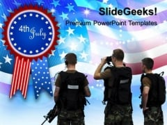 Us Marines 4th July American PowerPoint Templates And PowerPoint Themes 0612