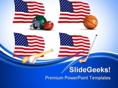 Us Sports Americana PowerPoint Themes And PowerPoint Slides 0811