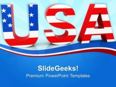 Usa American Patriotism PowerPoint Templates Ppt Backgrounds For Slides 0913