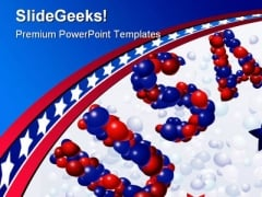 Usa Balloons Americana PowerPoint Template 1010