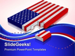 Usa Flag Americana PowerPoint Templates And PowerPoint Backgrounds 0811