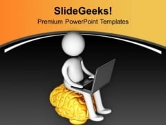 Use Brain To Learn Technology PowerPoint Templates Ppt Backgrounds For Slides 0713