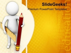 Use Pencil And Rubber PowerPoint Templates Ppt Backgrounds For Slides 0813