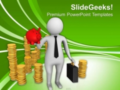 Use Savings To Start Business PowerPoint Templates Ppt Backgrounds For Slides 0613