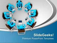 Use Technology For Team Meeting PowerPoint Templates Ppt Backgrounds For Slides 0713