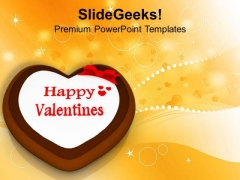 Valentine Cake Symbol Celebration PowerPoint Templates Ppt Backgrounds For Slides 0213
