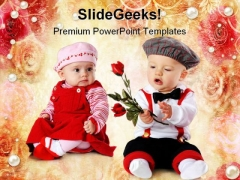 Valentine Roses Festival PowerPoint Themes And PowerPoint Slides 0811