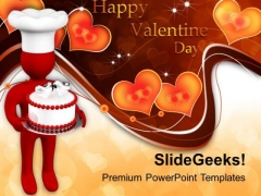 Valentines Cake Love PowerPoint Templates Ppt Backgrounds For Slides 0213