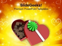 Valentines Gift Chocolates PowerPoint Templates Ppt Backgrounds For Slides 0213