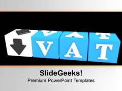 Vat Button Block Cube Success PowerPoint Templates Ppt Backgrounds For Slides 0313