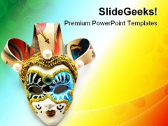 Venetian Masks Entertainment PowerPoint Themes And PowerPoint Slides 0911