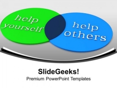 Venn Diagram Of Help Circle Charts PowerPoint Templates Ppt Backgrounds For Slides 1112