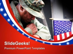 Veteran Americana PowerPoint Templates And PowerPoint Backgrounds 0311