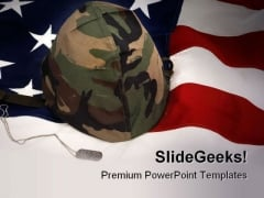 Veteran Soldiers Americana PowerPoint Template 1110