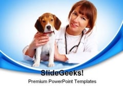 Veterinary Checkup Medical PowerPoint Backgrounds And Templates 1210