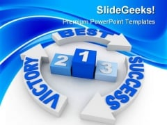Victory Success PowerPoint Templates And PowerPoint Backgrounds 0811