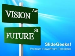 Vision Ave Road Sign Future PowerPoint Templates And PowerPoint Themes 0612