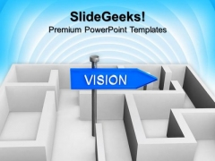Vision Concept With Labyrinth PowerPoint Templates And PowerPoint Themes 1112