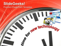 Vision To Move For New Technology PowerPoint Templates Ppt Backgrounds For Slides 0413