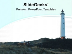 Visit Light House For Fun PowerPoint Templates Ppt Backgrounds For Slides 0513