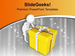 Wait For Surprise Gift PowerPoint Templates Ppt Backgrounds For Slides 0713
