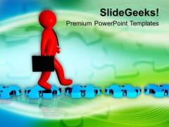 Walk On Tried And Tested Path PowerPoint Templates Ppt Backgrounds For Slides 0713