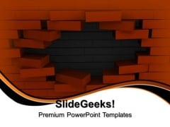 Wall Behind Broken Wall PowerPoint Templates And PowerPoint Themes 1012