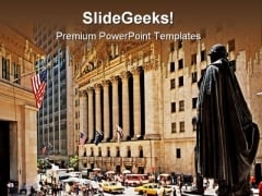 Wall Street Americana PowerPoint Templates And PowerPoint Backgrounds 0811