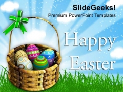Warm Wishes Of Happy Easter PowerPoint Templates Ppt Backgrounds For Slides 0313