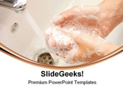 Washing Hands Health PowerPoint Themes And PowerPoint Slides 0711
