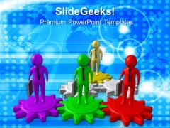 Watch Out For Gearing Position PowerPoint Templates Ppt Backgrounds For Slides 0713