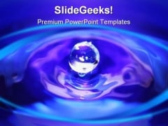 Water Drop Abstract PowerPoint Template 0810