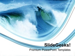 Water Waves On Blue White Background PowerPoint Templates Ppt Backgrounds For Slides 0213