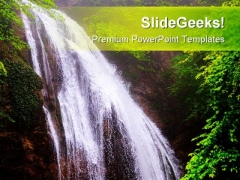 Waterfall Nature PowerPoint Templates And PowerPoint Backgrounds 0611