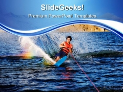 Waterskiing Holidays PowerPoint Templates And PowerPoint Backgrounds 0711
