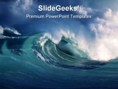 Wave Beach PowerPoint Template 0510